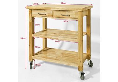 Carrello da cucina in legno