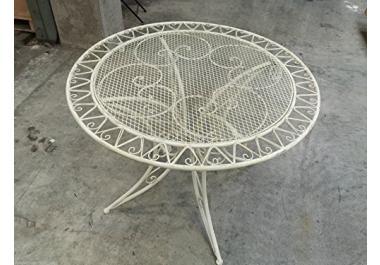 Tavolo in ferro battuto da giardino acquista tavoli in ferro battuto da giardino online su livingo - Tavolo giardino ferro battuto ...